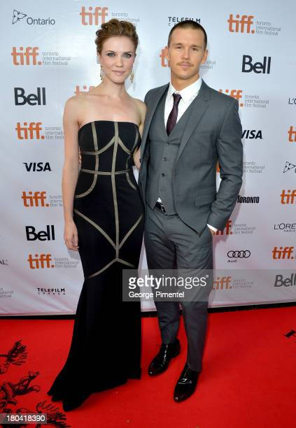 Actors Sara Canning and Ryan Kwanten arrive at 'The Right Kind Of Wrong' Premiere during the 2013 Toronto International Film Festival at Roy Thomson...