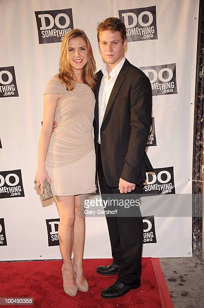 Actors Sara Canning and Zach Roerig attend DoSomethingorg's celebration of the 2010 Do Something Award nominees at The Apollo Theater on May 24 2010...