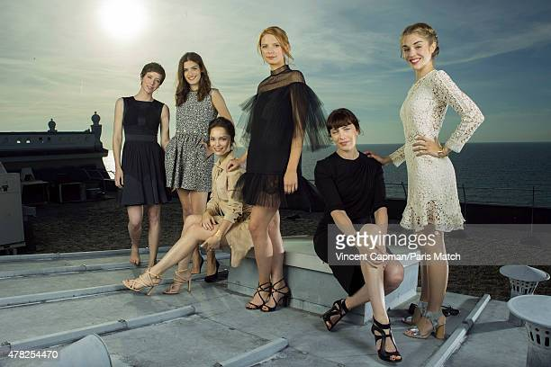 Actors Sara Giraudeau Alma Jodorowsky Lola Le Lann Josephine Japy Alice Isaaz and Sophie Verbeeck are photographed for Paris Match on June 13 2015 in...