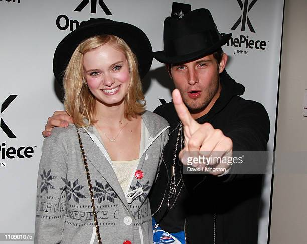 Actors Sara Paxton and Nico Tortorella attend the OnePiece private cocktail reception US launch party at Playhouse Hollywood on March 25 2011 in Los...