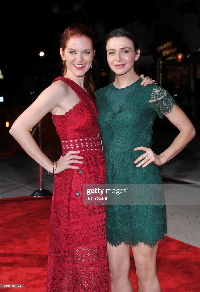 Actors Sarah Drew and Caterina Scorsone attend Same Kind Of Different As Me Premiere on October 12, 2017 in Los Angeles, California.
