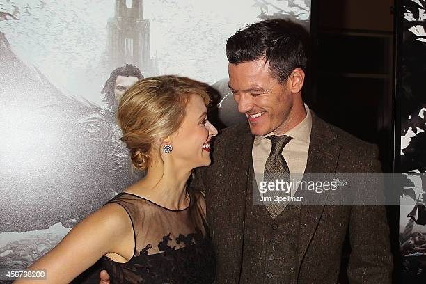 Actors Sarah Gadon and Luke Evans attend the Dracula Untold New York Premiere at AMC Loews 34th Street 14 theater on October 6 2014 in New York City