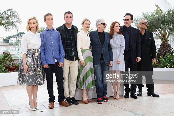 Actors Sarah Gadon, Evan Bird, Robert Pattinson, Mia Wasikowska, director David Cronenberg, actors Julianne Moore, John Cusack and Bruce Wagner...