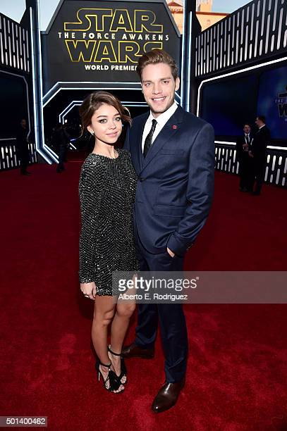"Actors Sarah Hyland and Dominic Sherwood attend the World Premiere of ""Star Wars The Force Awakens"" at the Dolby El Capitan and TCL Theatres on..."