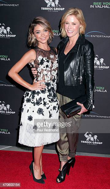 """Actors Sarah Hyland and Julie Bowen arrives at the premiere of """"See You In Valhalla"""" at ArcLight Cinemas on April 21, 2015 in Hollywood, California."""