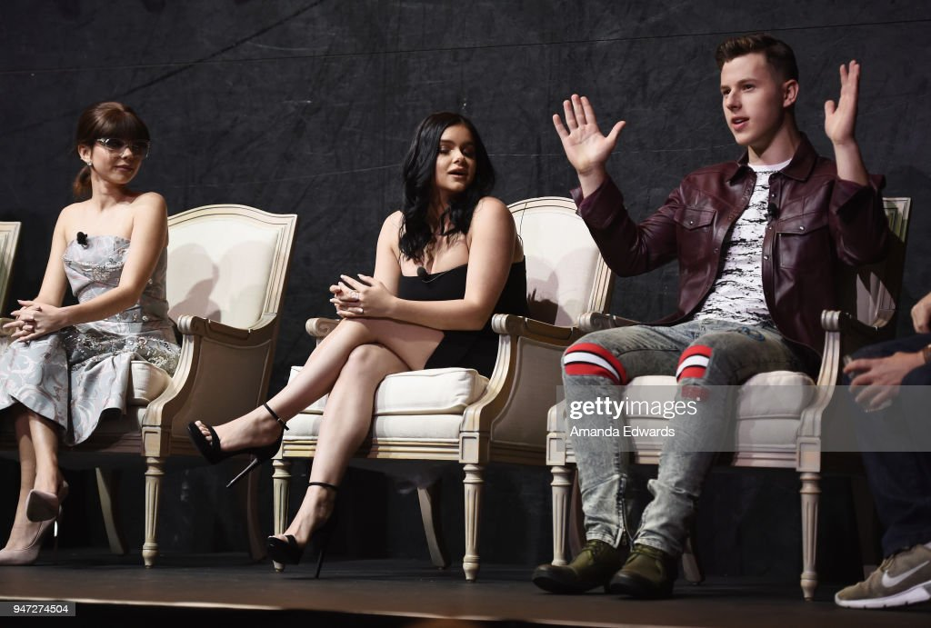 Actors Sarah Hyland, Ariel Winter and Nolan Gould attend the FYC Event for ABC's 'Modern Family' at Avalon on April 16, 2018 in Hollywood, California.