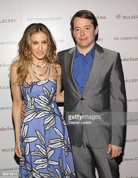 Actors Sarah Jessica Parker and Matthew Broderick attend a screening of Then She Found Me hosted by The Cinema Society and Mulberry at AMC Lincoln...
