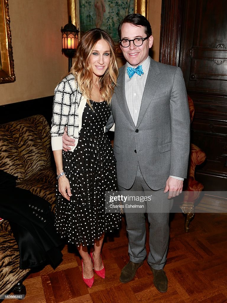 Actors Sarah Jessica Parker and Matthew Broderick attend the 10th Annual Love 'N' Courage Benefit For TNC's Emerging Playwrights Program at The National Arts Club on February 25, 2013 in New York City.