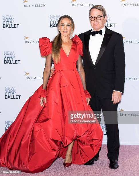 Actors Sarah Jessica Parker and Matthew Broderick attend the 2018 New York City Ballet Fall Fashion Gala at David H. Koch Theater, Lincoln Center on...