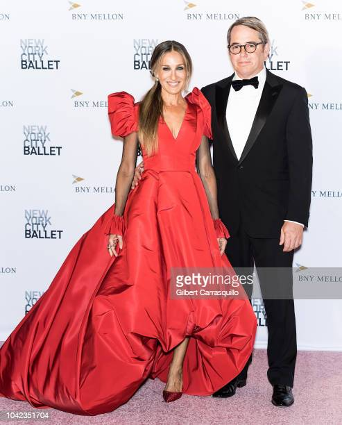 Actors Sarah Jessica Parker and Matthew Broderick attend the 2018 New York City Ballet Fall Fashion Gala at David H Koch Theater Lincoln Center on...