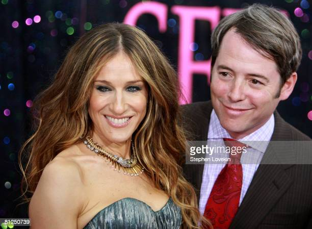 Actors Sarah Jessica Parker and Matthew Broderick attend the premiere of Sex and the City The Movie at Radio City Music Hall on May 27 2008 in New...