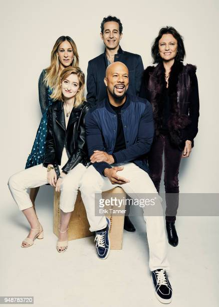 Actors Sarah Jessica Parker Gus Birney Waleed Zuaiter Common and Jacqueline Bisset of the film Blue Night pose for a portrait during the 2018 Tribeca...