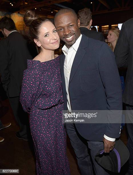 Actors Sarah Michelle Gellar and Sean Patrick Thomas attend the 2nd annual Los Angeles Fatherhood Lunch to benefit GOODFOUNDATION at The Palm...