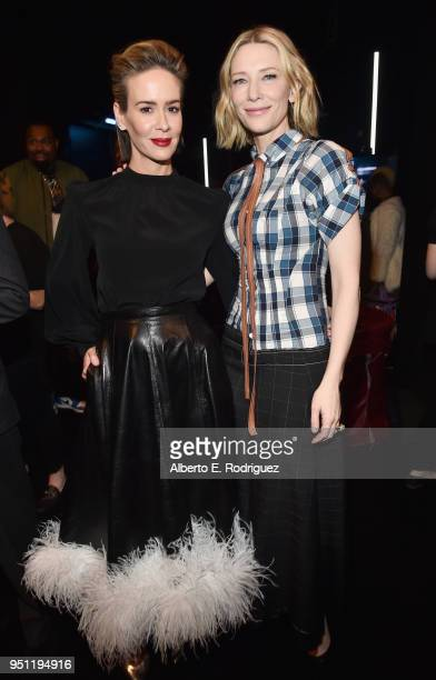 Actors Sarah Paulson and Cate Blanchett attend CinemaCon 2018 Universal Pictures Invites You to a Special Presentation Featuring Footage from its...