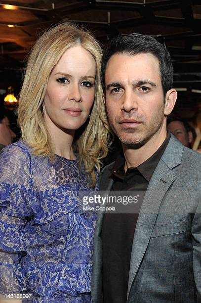 Actors Sarah Paulson and Chris Messina attend Tribeca Film Festival AfterParty 2012 For Fairhaven At Darby Downstairs on April 20 2012 in New York...
