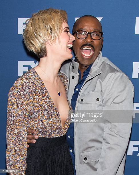 Actors Sarah Paulson and Courtney B Vance attend FX Networks Upfront Screening Of 'The People v OJ Simpson American Crime Story' at AMC Empire 25...