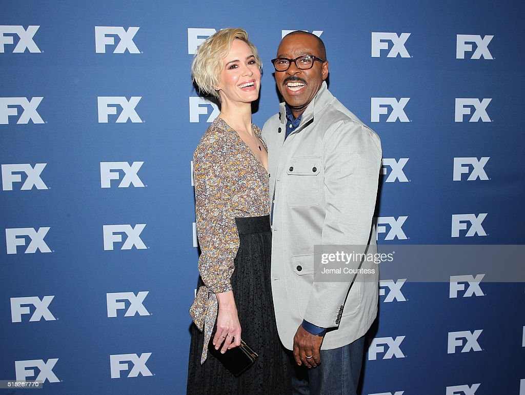 Actors Sarah Paulson and Courtney B. Vance attend the FX Networks Upfront screening of 'The People v. O.J. Simpson: American Crime Story' at AMC Empire 25 theater on March 30, 2016 in New York City.