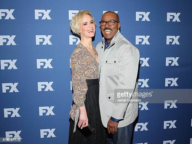 Actors Sarah Paulson and Courtney B Vance attend the FX Networks Upfront screening of 'The People v OJ Simpson American Crime Story' at AMC Empire 25...