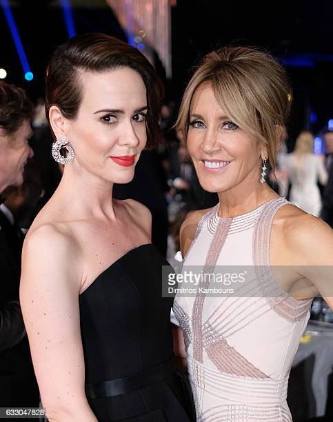 Actors Sarah Paulson and Felicity Huffman pose during The 23rd Annual Screen Actors Guild Awards at The Shrine Auditorium on January 29 2017 in Los...