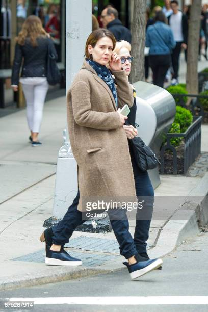 Actors Sarah Paulson and Holland Taylor are seen in the Upper East Side on April 30 2017 in New York City