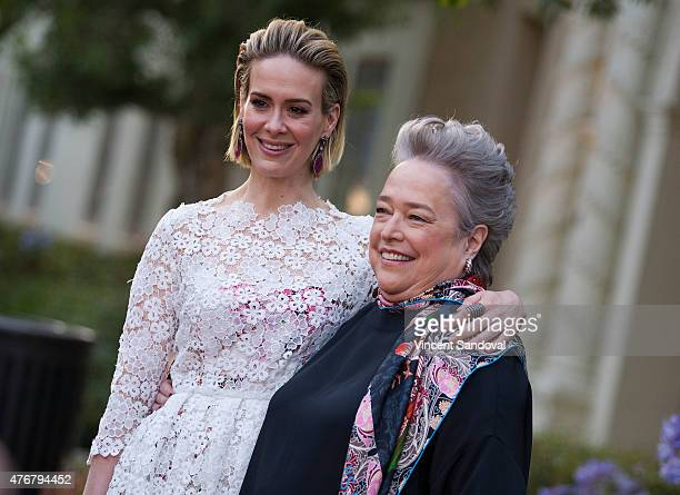 Actors Sarah Paulson and Kathy Bates attend FX's American Horror Story Freakshow FYC special screening and QA at Paramount Studios on June 11 2015 in...