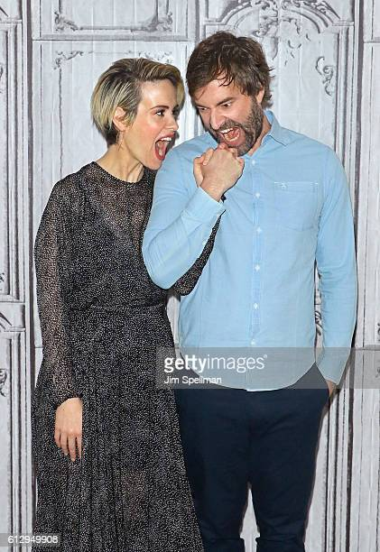 Actors Sarah Paulson and Mark Duplass attend The Build Series Presents Sarah Paulson and Mark Duplass to discuss the film Blue Jay at AOL HQ on...