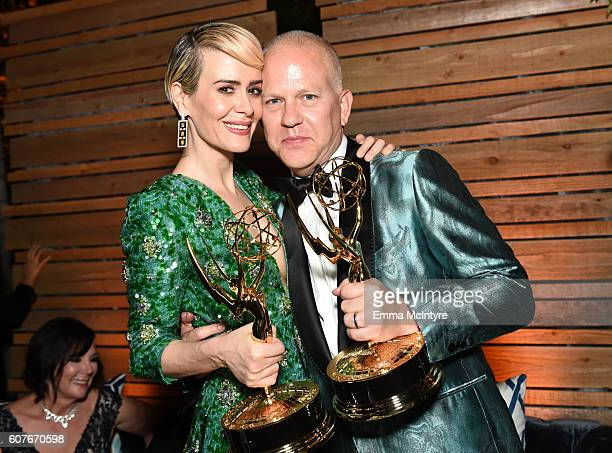 Actors Sarah Paulson and Ryan Murphy attends the FOX Broadcasting Company, FX, National Geographic And Twentieth Century Fox Television's 68th...