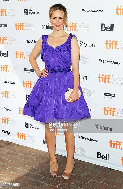 Actors Sarah Paulson attends the Martha Marcy May Marlene premiere at Ryerson Theatre during the 2011 Toronto International Film Festival on...