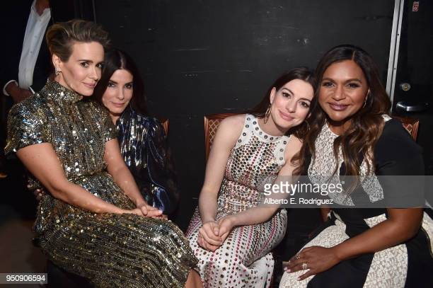 """Actors Sarah Paulson Sandra Bullock Anne Hathaway and Mindy Kaling attend CinemaCon 2018 Warner Bros Pictures Invites You to """"The Big Picture"""" an..."""