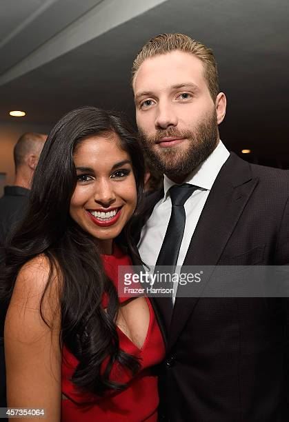Actors Sarah Roberts and Jai Courtney attend Australian in Film presents the Premiere Of Felony after party at Harmony Gold Theatre on October 16...