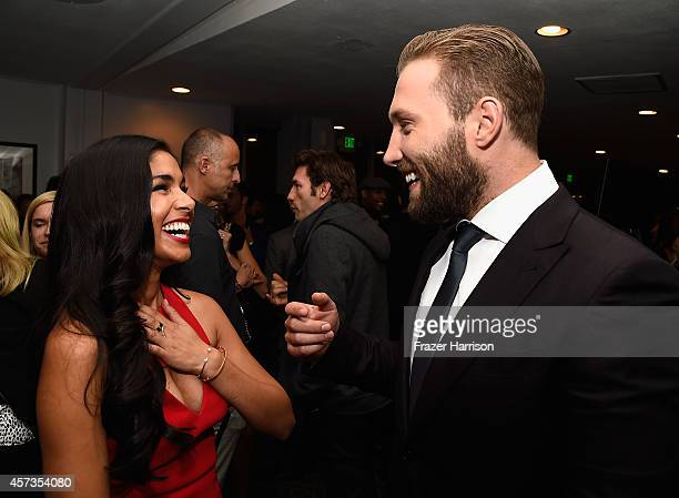 Actors Sarah Roberts and Jai Courtney attend Australian in Film presents the Premiere Of 'Felony' after party at Harmony Gold Theatre on October 16...