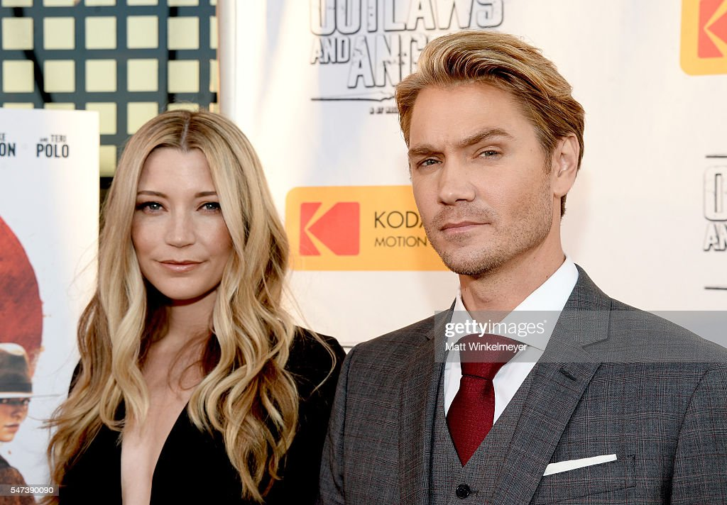 Actors Sarah Roemer (L) and Chad Michael Murray attend the premiere of Momentum Pictures' 'Outlaws And Angels' at Ahrya Fine Arts Movie Theater on July 12, 2016 in Beverly Hills, California.
