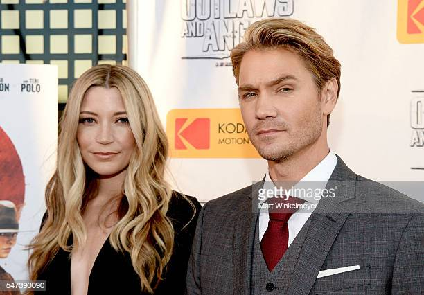 Actors Sarah Roemer and Chad Michael Murray attend the premiere of Momentum Pictures' 'Outlaws And Angels' at Ahrya Fine Arts Movie Theater on July...