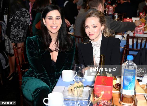 Actors Sarah Silverman and Amanda Seyfried attend the 2018 Film Independent Spirit Awards on March 3 2018 in Santa Monica California