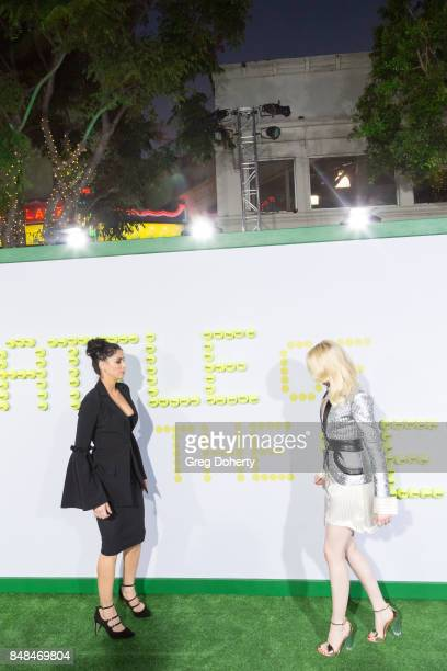 Actors Sarah Silverman and Emma Stone arrive for the Premiere Of Fox Searchlight Pictures' Battle Of The Sexes at Regency Village Theatre on...