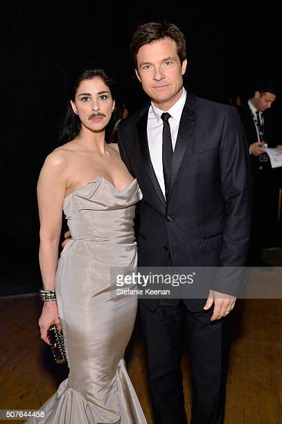 Actors Sarah Silverman and Jason Bateman attend The 22nd Annual Screen Actors Guild Awards at The Shrine Auditorium on January 30 2016 in Los Angeles...