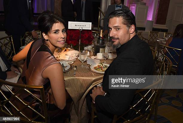 Actors Sarah Silverman and Joe Manganiello attend HFPA Annual Grants Banquet at the Beverly Wilshire Four Seasons Hotel on August 13 2015 in Beverly...