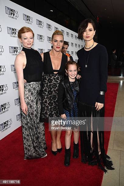 Actors Sarah Snook Kate Winslet Makenzie Moss and Katherine Waterston attend FIJI Water at the centerpiece of The 53rd New York Film Festival...