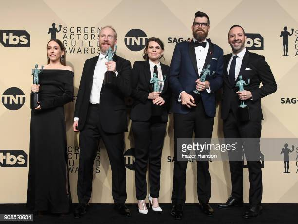 Actors Sarah Sutherland Matt Walsh Clea DuVall Timothy Simons and Tony Hale winners of Outstanding Performance by an Ensemble in a Comedy Series for...