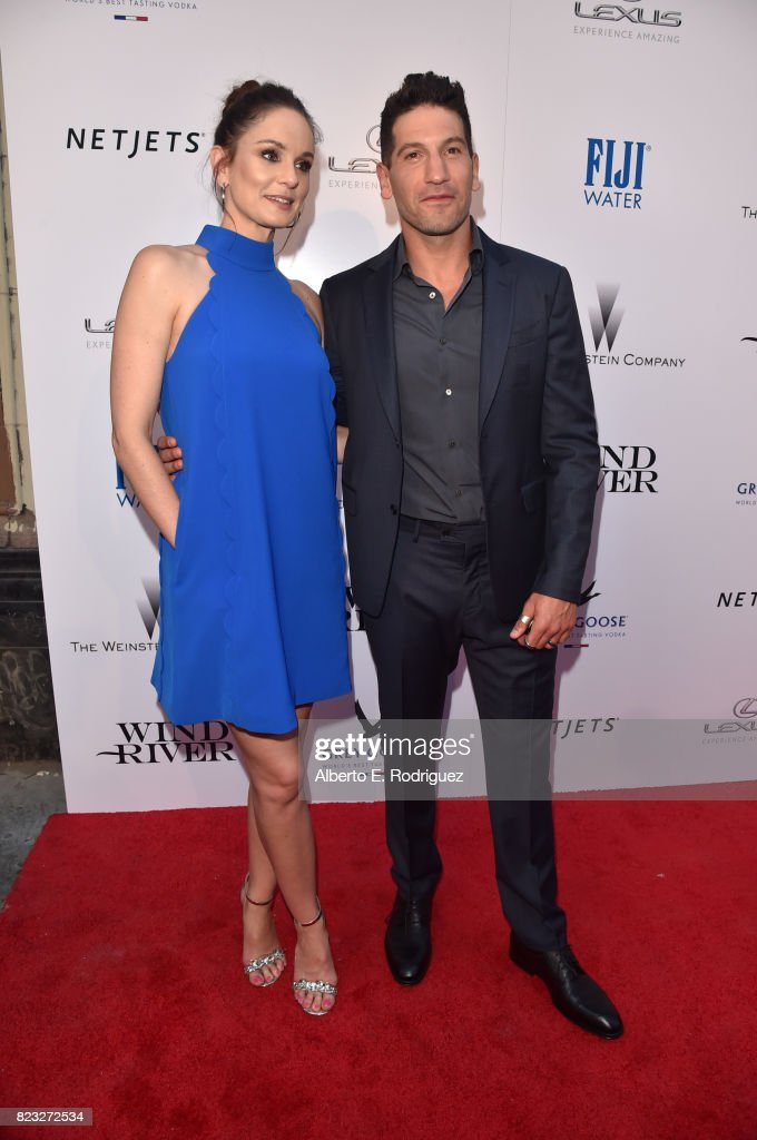 Actors Sarah Wayne Callies (L) and Jon Bernthal attend the premiere of The Weinstein Company's 'Wind River' at The Theatre at Ace Hotel on July 26, 2017 in Los Angeles, California.
