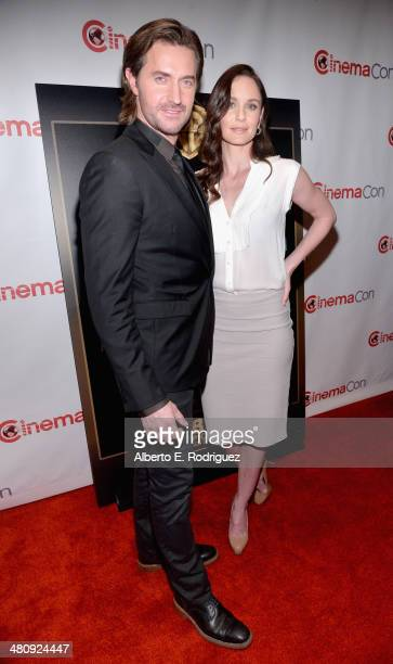 """Actors Sarah Wayne Callies and Richard Armitage attend Warner Bros. Pictures' """"The Big Picture,"""" an Exclusive Presentation Highlighting the Summer of..."""