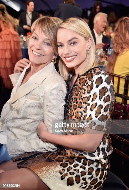 Actors Sarie Kessler and Margot Robbie pose during the 2018 Film Independent Spirit Awards on March 3 2018 in Santa Monica California