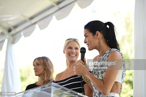 Actors Sasha Alexander Ali Larter and Angie Harmon attended a tea party to support the Charlotte Gwenyth Gray Foundation to cure Batten Disease on...