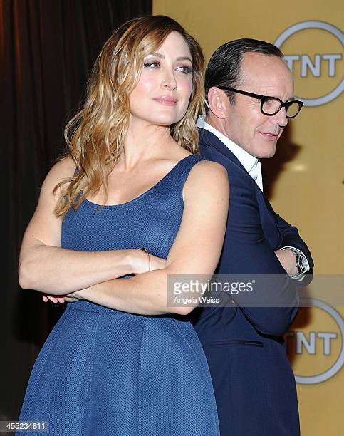 Actors Sasha Alexander and Clark Gregg attend the 20th Annual Screen Actors Guild Awards Nominations Announcement at Pacific Design Center on...