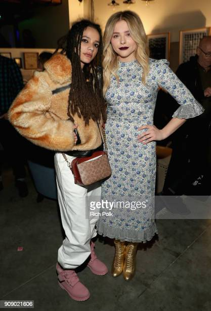 Actors Sasha Lane and Chloe Grace Moretz attend The IMDbPro Party to Celebrate the Premiere of 'The Miseducation of Cameron Post' and Launch of...