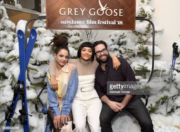 Actors Sasha Lane Kiersey Clemons and Ted Danson attend the 'Hearts Beat Loud' afterparty at the Grey Goose Blue Door during Sundance Film Festival...