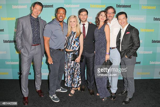 Actors Sasha Roiz Russell Hornsby Claire Coffee David Giuntoli Bree Turner Silas Weir Mitchell and Reggie Lee arrive at the Entertainment Weekly...