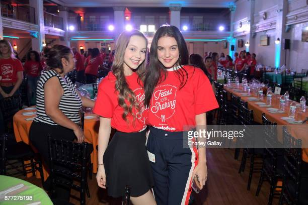 Actors Savannah May and Lilimar attend The Salvation Army Feast of Sharing presented by Nickelodeon at Casa Vertigo on November 21 2017 in Los...