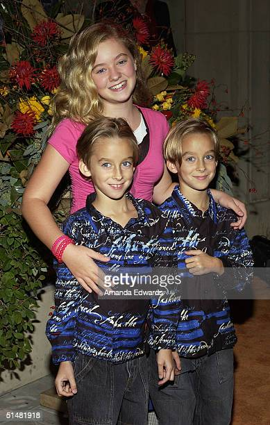 Actors Sawyer Madylin and Sullivan Sweeten arrive at the party celebrating the 200th Episode of Everybody Loves Raymond on October 14 2004 at Spago...