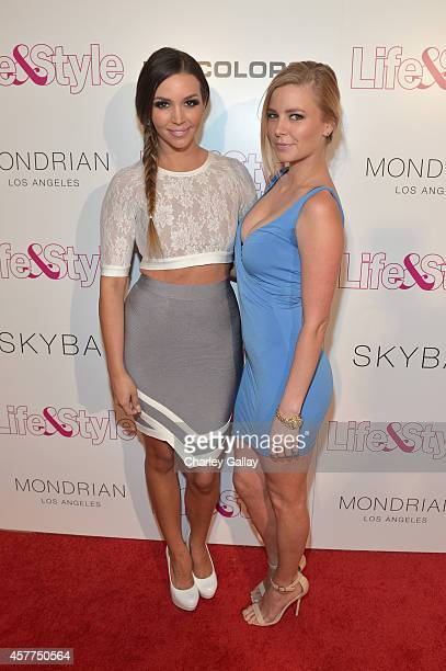 Actors Scheana Marie and Ariana Madix attend Life Style Weekly's 10 Year Anniversary party at SkyBar at the Mondrian Los Angeles on October 23 2014...